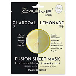 The Crème® Shop 2-in-1 Fusion Mask in Charcoal and Lemon