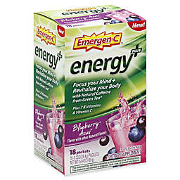 Emergen-C® 18-Count .33 oz. Energy+ Blueberry-Acai Fizzy Drink Mix Packets