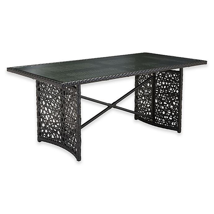 Alternate image 1 for Zuo® Modern Santa Cruz Outdoor Dining Table in Terra Brown