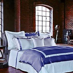 Frette at Home Arno Queen Duvet Cover in Sapphire/White
