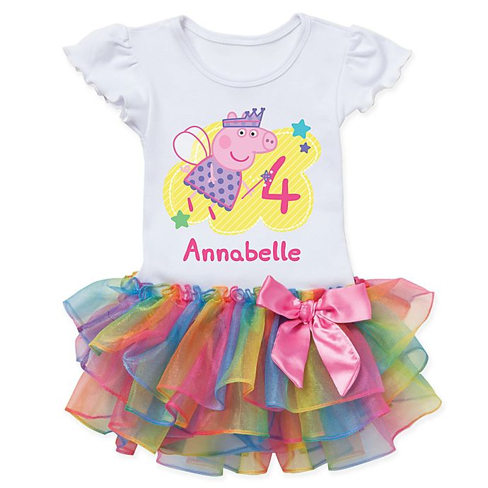 955c65e63 Peppa Pig™ Birthday Fairy Rainbow Tutu T-Shirt