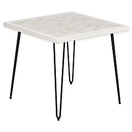 INK+IVY® Woodbrick End Table