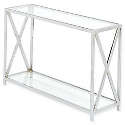 Madison Park Darwin Chrome and Glass Console Table