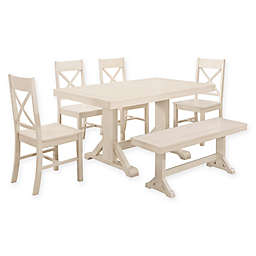 Forest Gate 6-Piece Wheatridge Farmhouse Wood Dining Set
