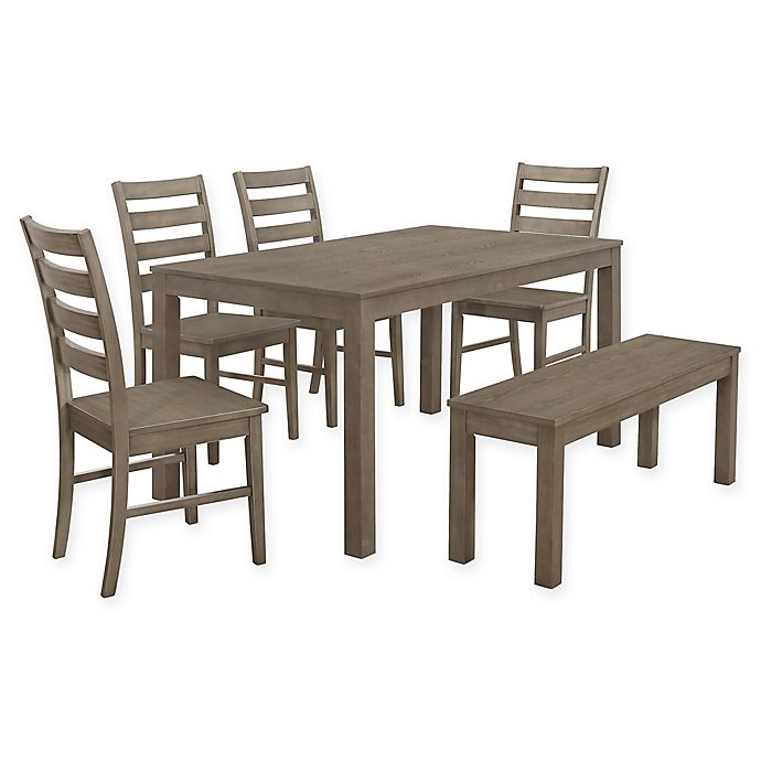 Alternate image 1 for Forest Gate 6-Piece Hopewell Contemporary Wood Dining Set