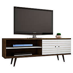 Manhattan Comfort™ Liberty 62.99-Inch TV Stand in Rustic Brown/White