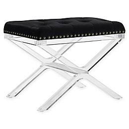 Linon Home Kelsi Acrylic Vanity Bench
