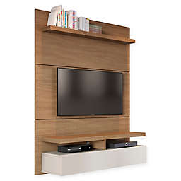 Manhattan Comfort City Theater Panel 1.2 Entertainment Center in Maple Cream/White