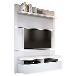 Manhattan Comfort City Theater Panel 1.2 Entertainment Center in White Gloss
