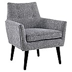 Linon Home Ava Chair in Black/White