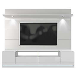 Manhattan Comfort Vanderbilt TV Stand and Cabrini 2.2 Floating Wall Panel