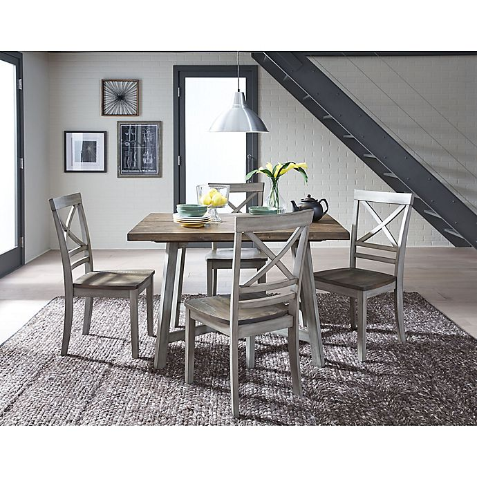 Standard Furniture Fairhaven 5 Piece Dining Set In Rustic Grey Bed