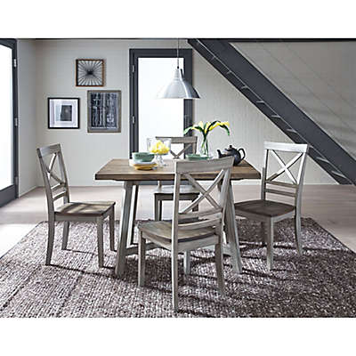 Standard Furniture Fairhaven 5-Piece Dining Set in Rustic Grey