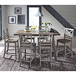 Standard Furniture Fairhaven 5-Piece Counter Height Dining Set in Rustic Grey
