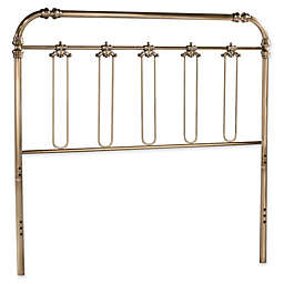 Hillsdale Samantha Queen Metal Headboard in Soft Gold