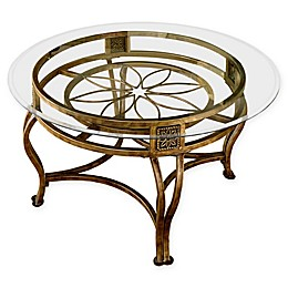 Hillsdale Furniture Scottsdale Glass Coffee Table in Brown Rust