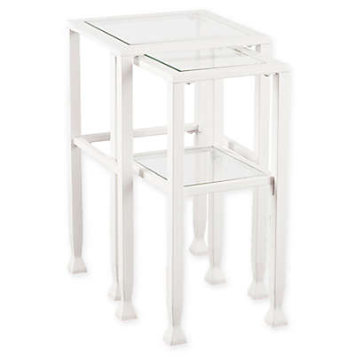 Southern Enterprises Jaymes Metal and Glass Nesting Tables (Set of 2)
