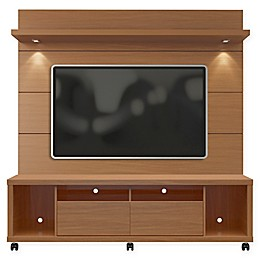Manhattan Comfort Cabrini 1.8 TV Stand and Panel in Maple Cream/White