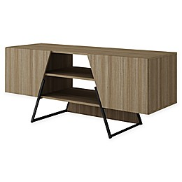 Manhattan Comfort Ellis 53.15-Inch TV Stand in Oak/Black