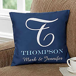 Our Monogram 18-Inch Square Throw Pillow