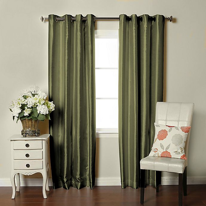 Alternate image 1 for Brielle Fortune 84-Inch Grommet Top Room Darkening Window Curtain Panel in Sage