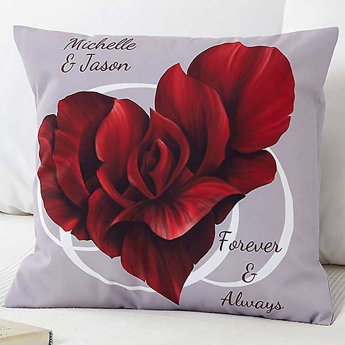 Alternate image 1 for Blooming Heart 18-Inch Throw Pillow