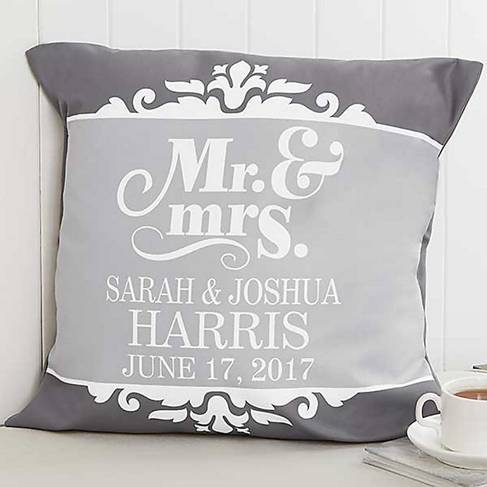 Alternate image 1 for The Happy Couple 18-Inch Square Throw Pillow