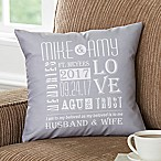Our Life Together 14-Inch Square Throw Pillow