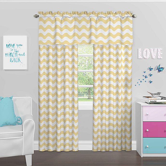 Alternate image 1 for Eclipse Kady Room Darkening Window Curtain Panel and Valance