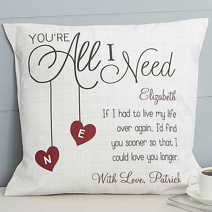 Alternate image 1 for You're All I Need 18-Inch Square Throw Pillow
