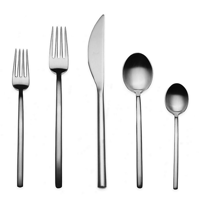 Alternate image 1 for Mepra Due Ice 5-Piece Flatware Place Setting