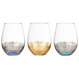 Fitz and Floyd® Annalise Stemless Wine Goblets