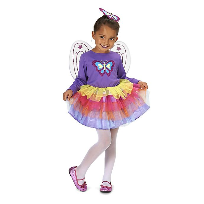 Alternate image 1 for Neon Purple Butterfly Size 2-4T Child's Halloween Costume