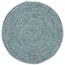 Capel Rugs Sea Pottery 5-Foot 6-Inch Round Area Rug in Blue
