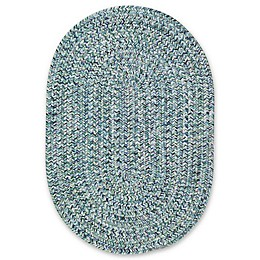 Capel Rugs Sea Pottery Oval Rug in Blue