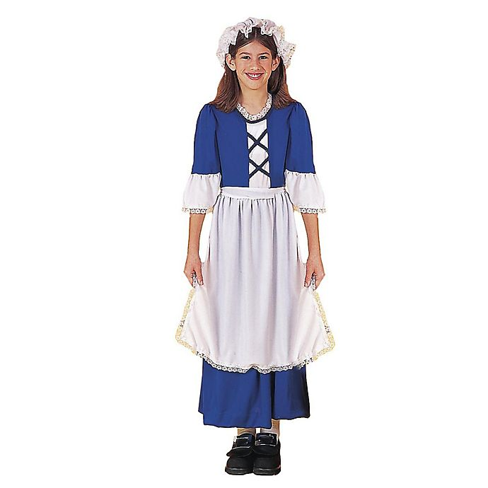 Alternate image 1 for Little Colonial Miss Large Child's Halloween Costume