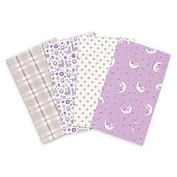 Trend Lab® 4-Pack Llamas and Unicorns Burp Cloth Set