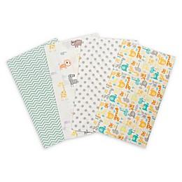 Trend Lab® 4-Pack Mint Jungle Burp Cloth Set
