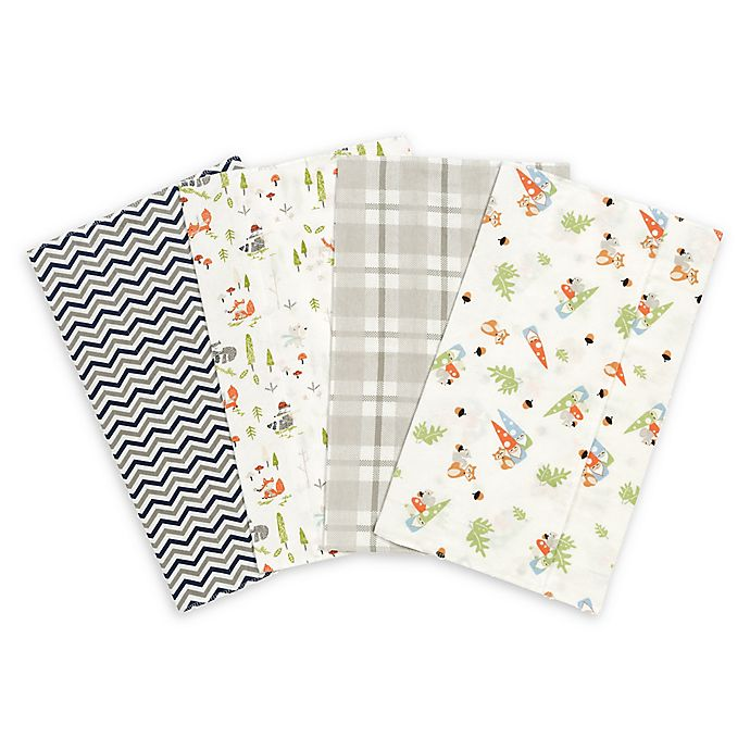 Alternate image 1 for Trend Lab® 4-Pack Woodsy Gnomes Burp Cloth Set