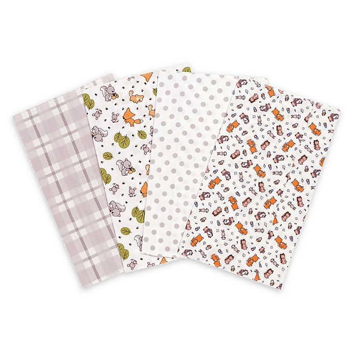 Alternate image 1 for Trend Lab® 4-Pack Wild Bunch Burp Cloth Set