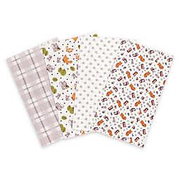 Trend Lab® 4-Pack Wild Bunch Burp Cloth Set