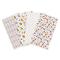 Trend Lab® 4-Pack Wild Bunch Burp Cloth Set
