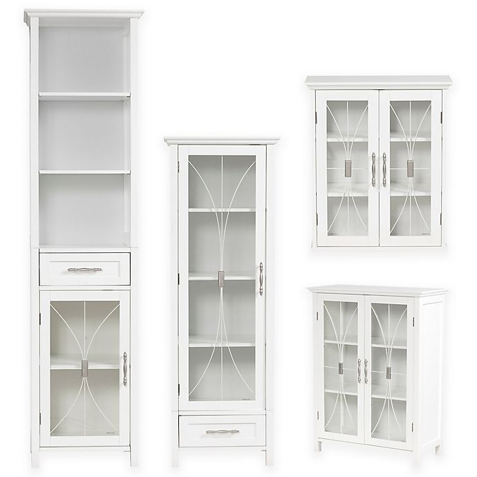 Alternate image 1 for Elegant Home Fashions Lafayette Cabinet Collection in White