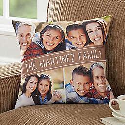 Family Photo Throw Pillow