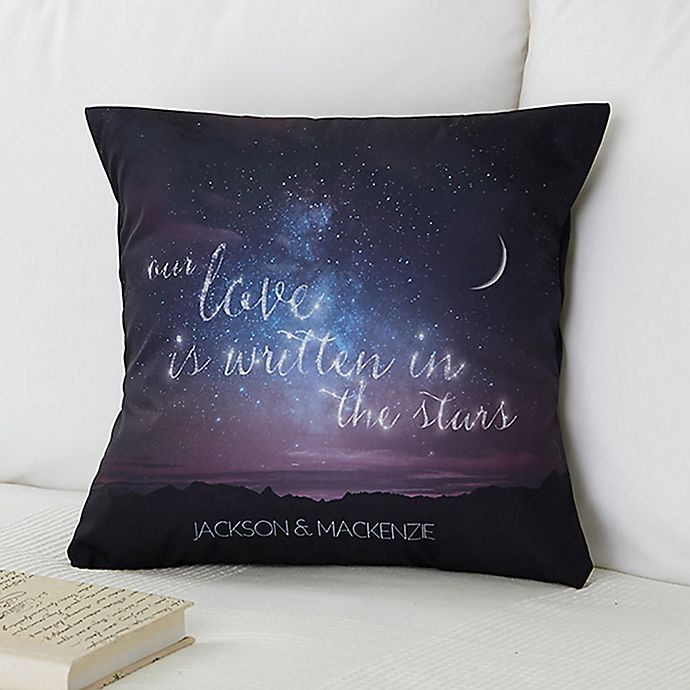 Alternate image 1 for Written in the Stars Throw Pillow