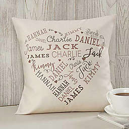 "Close To Her Heart Personalized 14"" Throw Pillow"