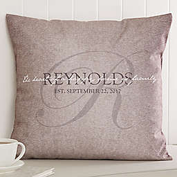 Heart of Our Home 18-Inch Square Throw Pillow