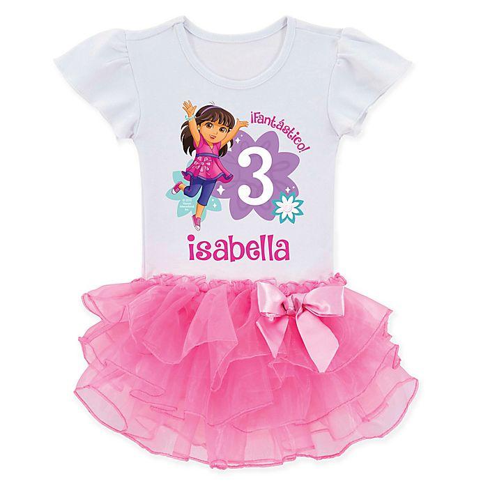 Dora And FriendsTM Birthday Fun Girl Tutu T Shirt