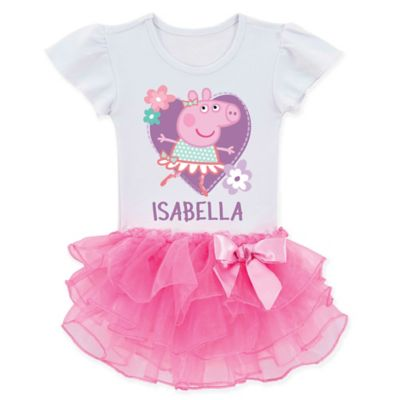 Peppa Pig™ Size 5/6 Ballerina Tutu T Shirt by Bed Bath And Beyond