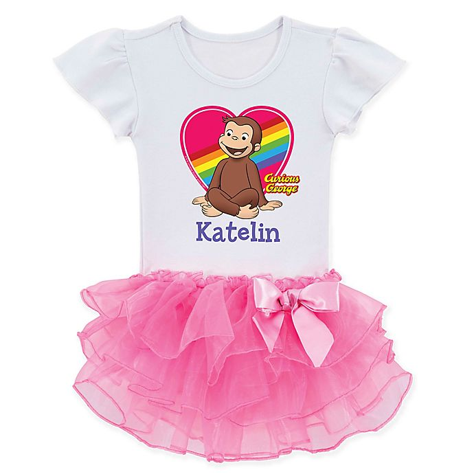 Alternate image 1 for Curious George® Rainbow Tutu T-Shirt